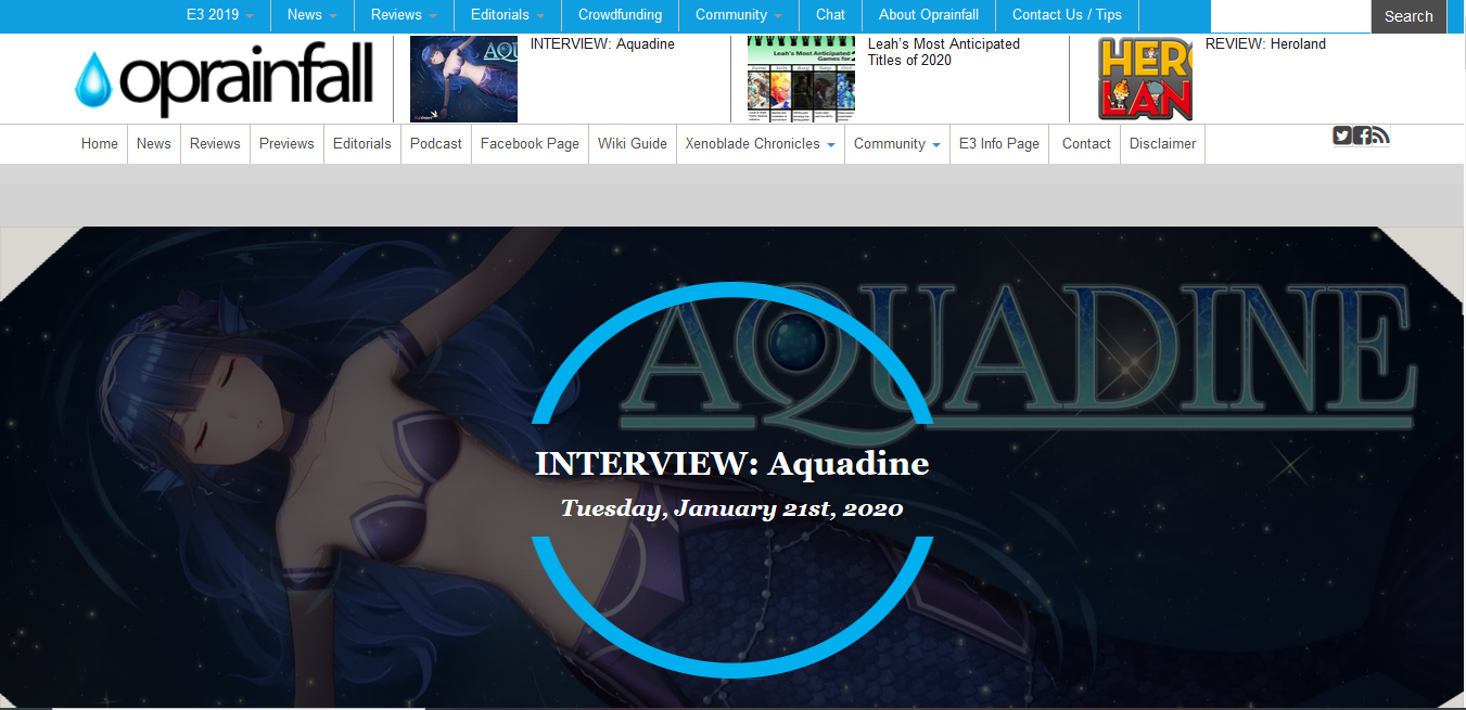 Aquadine Interview!